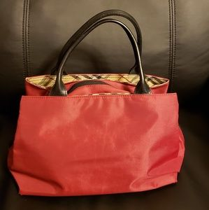 BURBERRY Nova Check Handbag Nylon/Leather